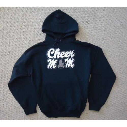 Big Bling  Navy CHEERMOM Hooded Sweatshirt -BBH-103N